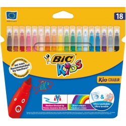 ROTULADOR BIC KIDS 18 COLORES