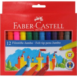 ROTULADOR JUMBO Faber CASTELL 12 Colores