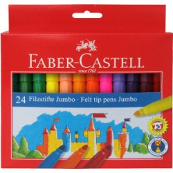 ROTULADOR JUMBO Faber Castell CAJA 24 colores