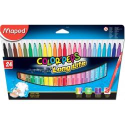 Rotulador Color Peps Long Life 24 colores
