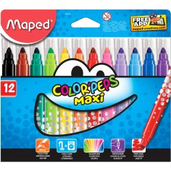 ROTULADORES MAXI COLOR Peps 12 colores