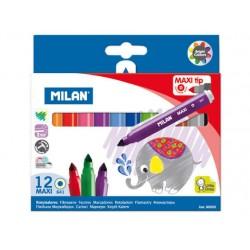 Rotuladores Milan Maxi Punta Gruesa 12 Colores