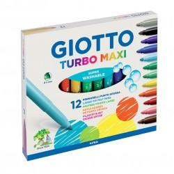 ROTULADOR Giotto TURBO MAXI 12 COLORES P/5