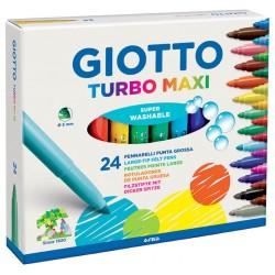 ROTULADOR Giotto TURBO MAXI 24 COLORES
