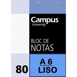 BLOC NOTAS A6 80/H 60G LISO(P/10un)