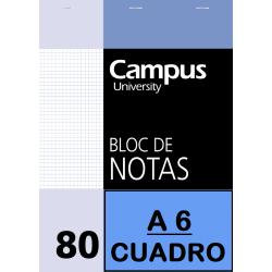 BLOC NOTAS A6 80/H 60G CP(P/10un)
