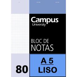 BLOC NOTAS A5 80/H 60G LISO(P/10un)