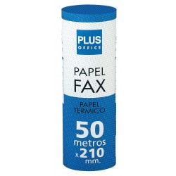 ROLLO Papel térmico FAX 210X50X25
