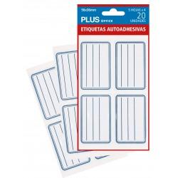 ETIQUETAS MAKRO LIBROS 56X36MM /5H