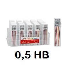 MINAS BISMARK 0,5 HB COLORES C/12