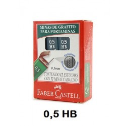 MINAS FABER CASTELL 0,5 HB POLY C/12