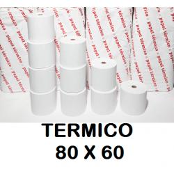ROLLOS TERMICOS 80X60MM P/8
