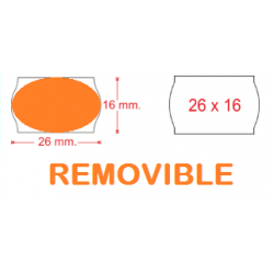 ETIQUETA 26X16 FLUOR REMOVIBLE P/8