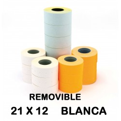 ETIQUETA APLI 21X12 BLANCO REMOVIBLE P/6
