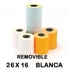 ETIQUETA APLI 26X16 BLANCO REMOVIBLE P/6