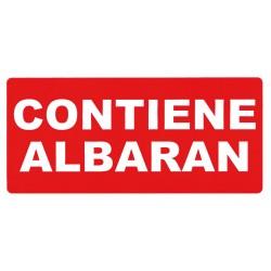 ETIQUETA ROLLO CONTIENE ALBARAN