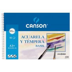 BLOC ACUARELA CANSON A3 ESPIRAL