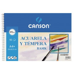 BLOC ACUARELA CANSON A4 ESPIRAL
