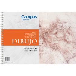 BLOC DIBUJO CAMPUS A3 160GR 30H