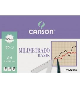 BLOC MILIMETRADO BASIK CANSON A4 ENCOLADO