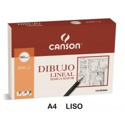 LAMINAS DIBUJO A4 LISO LINEAL P/250