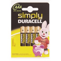 PILAS DURACELL AAA P/4
