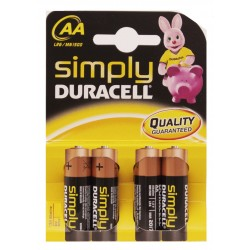 PILAS DURACELL AA P/4