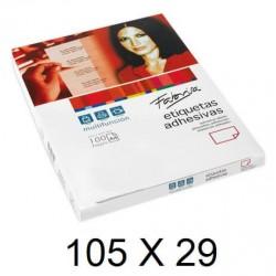 ETIQUETA FABRISA A4 105x29 C/100