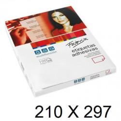 ETIQUETA FABRISA A4 210X297 C/100