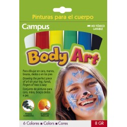 MAQUILLAJE CAMPUS BODY ART 6 COLORES