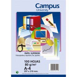 PAPEL A4 80GR CAMPUS BLANCO/100H