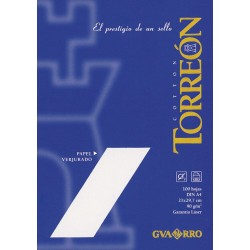 PAPEL A4 90GR VERJURADO TORREON BLANCO/100H