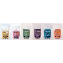 PURPURINA GLITTER CAMPUS COLORES ARCO IRIS C/24