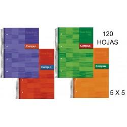 BLOC A4 CAMPUS 120H T/FORRADA 5X5 90GR P/5