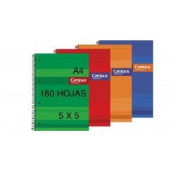 BLOC A4 CAMPUS 160H T/FORRADA 5X5 P/5