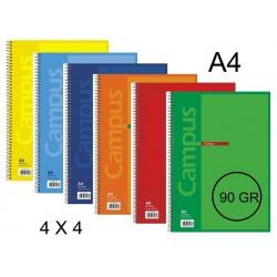 BLOC A4 CAMPUS 80H T/BASICA 4X4 90GR P/6