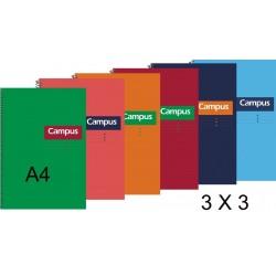 BLOC A4 CAMPUS 80H T/DURA 3X3 P/6