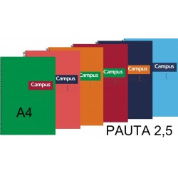 BLOC A4 CAMPUS 80H T/DURA PAUTA 2,5 P/6