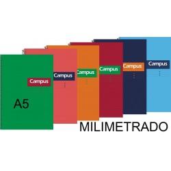 BLOC A5 CAMPUS 80H T/DURA MILIMETRADO P/5