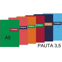 BLOC A5 CAMPUS 80H T/DURA PAUTA 3,5 P/5