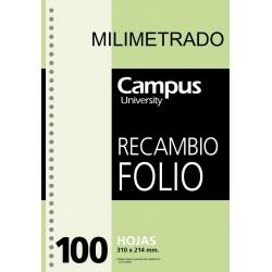 RECAMBIO CAMPUS Fº 100H MILIMETRADO