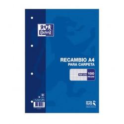 RECAMBIO A4 OXFORD 100+20H 4X4 90GR