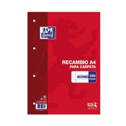 RECAMBIO A4 OXFORD 100H HORIZONTAL 90GR