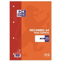 RECAMBIO A4 OXFORD 100H LISO 90GR