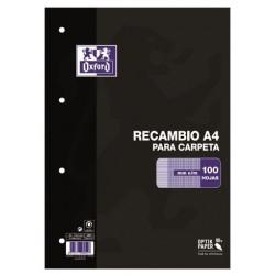 RECAMBIO A4 OXFORD 100H MILIMETRADO 90GR