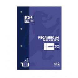 RECAMBIO A4 OXFORD 100H PAUTA 3,5 90GR