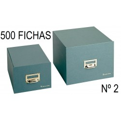 FICHERO CARTÓN VERDE Nº 2 500 FICHAS