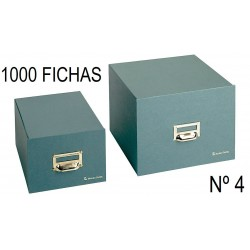 FICHERO CARTÓN VERDE Nº 4 1000 FICHAS