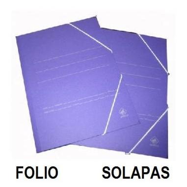 CARPETA CARTON FOLIO SOLAPA AZUL P/20