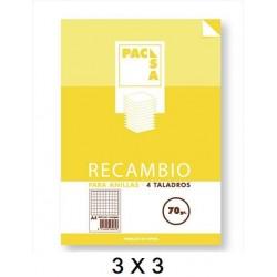 RECAMBIO A4 100H 3X3 70GR P/5